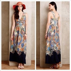 Anthropologie-Maeve-Vizcaya Paisley Maxi Dress